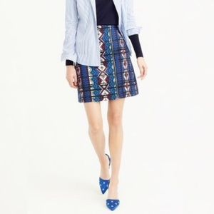 J. Crew Jacquard Mini Skirt